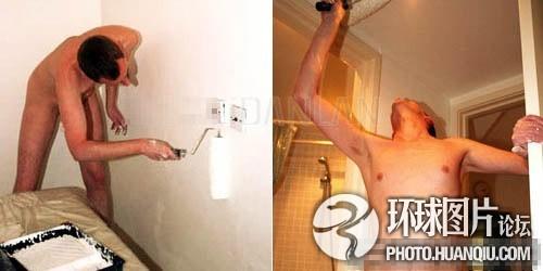英油漆工裸体开工